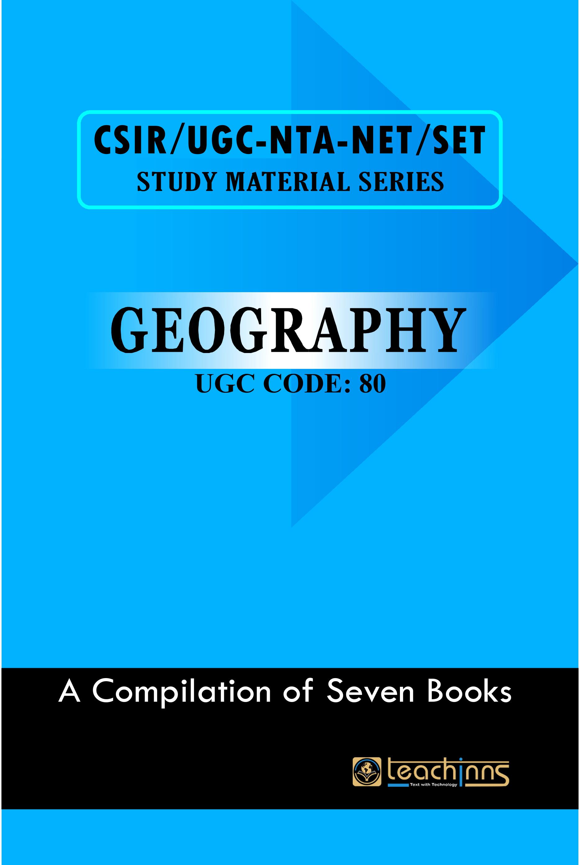 UGC-NTA NET/SET/JRF NET-Leader Geography 2020